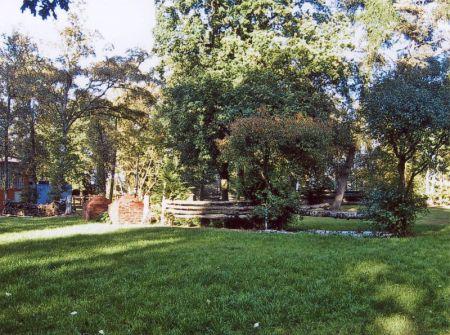 Springplatz auf Rasen